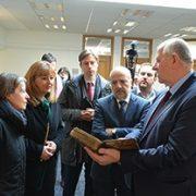 Visoka delegacija SR Njemačke u posjeti Gazi Husrev-begovoj biblioteci
