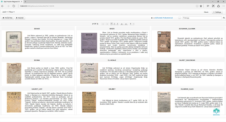 Digitalizacija Fonda periodike i formiranje Digitalne Gazi Husrev-begove biblioteke
