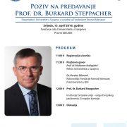 Poziv na predavanje prof. dr. Burkard Steppacher