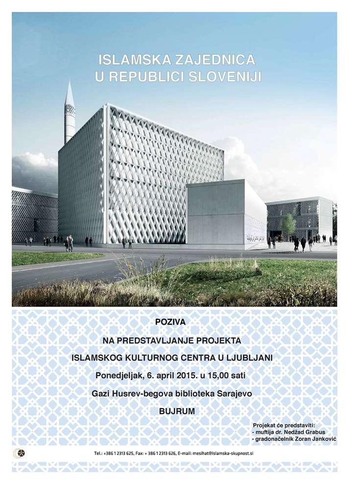 Predstavljanje projekta Islamskog kulturnog centra u Ljubljani