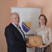 Direktor Gazi Husrev-begove biblioteke u posjeti federalnoj ministrici obrazovanja i nauke