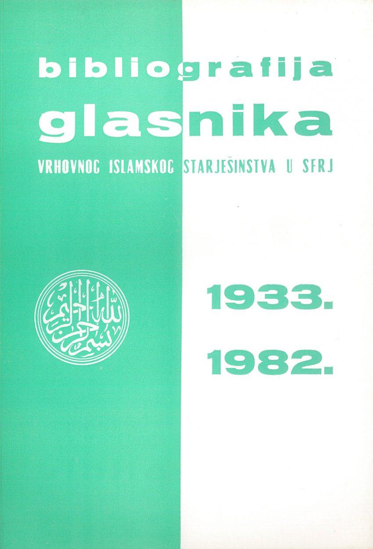 Bibliografija Glasnika IZ 1933.-1982.