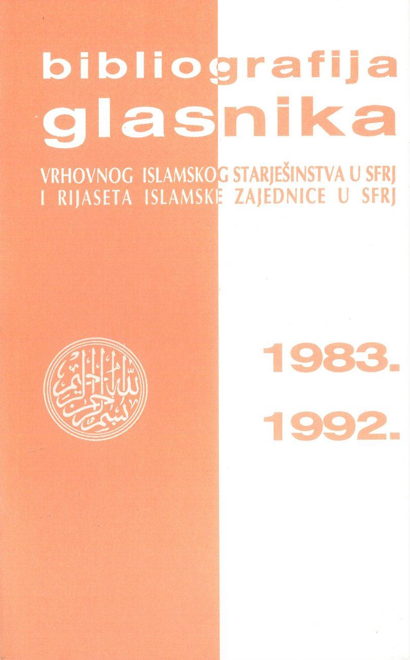 Bibliografija Glasnika IZ 1983.-1992.