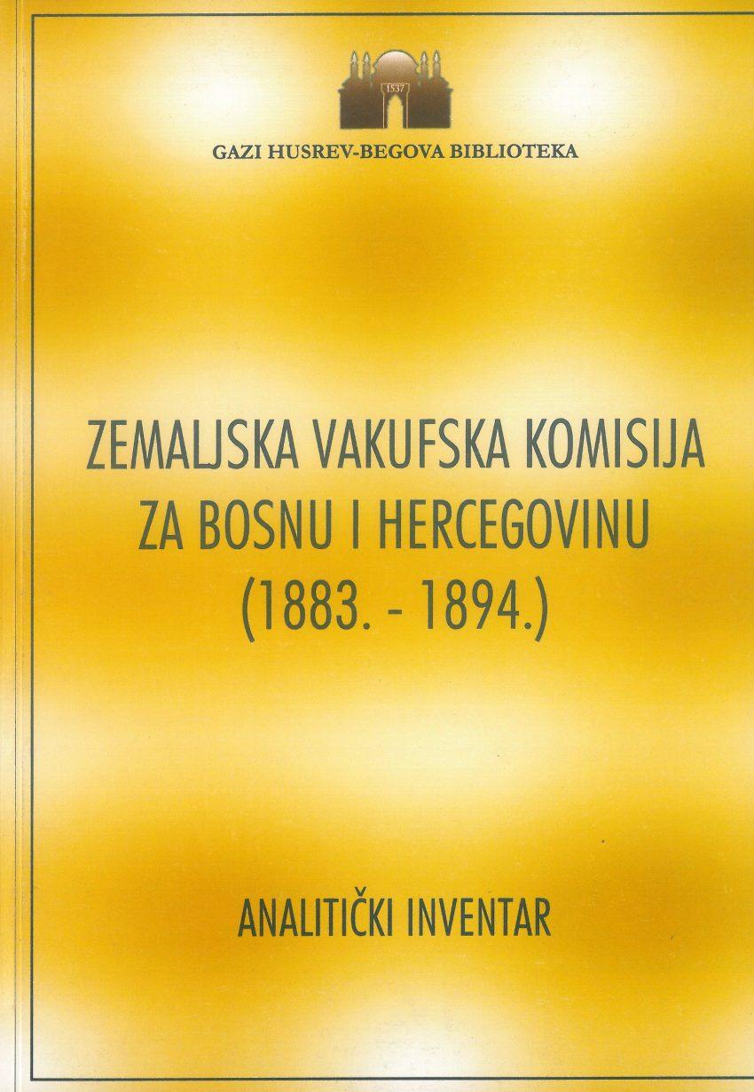 Zemaljska vakufska komisija za BiH (1883-1894)