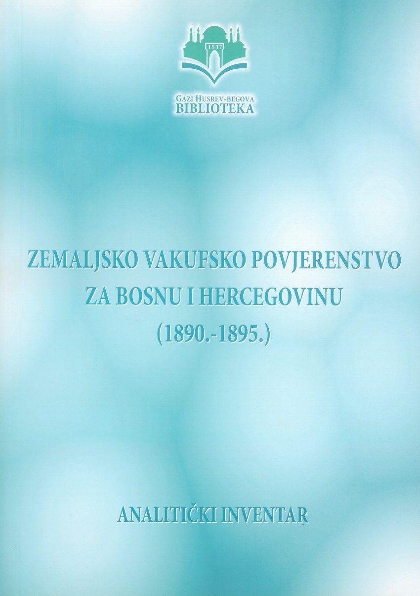 Zemaljsko vakufsko povjerenstvo za BiH (1890-1895)